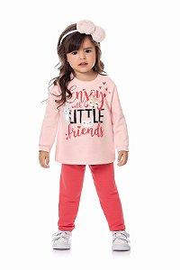Conjunto infantil blusão manga longa e calça