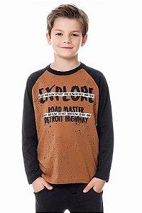 Camiseta infantil com estampa