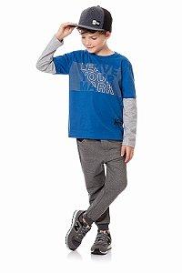 Conjunto infantil camiseta manga longa e calça moletom