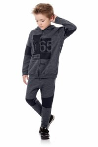 Conjunto infantil jaqueta e calça moletom