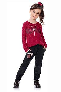 Calça infantil moletom com bolso