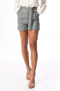 Shorts melange com faixa