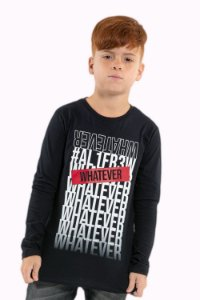Camiseta juvenil manga longa