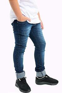 Calça jeans juvenil com cinto