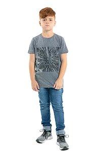 Camiseta juvenil manga curta
