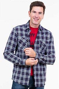 Camisa flanelada xadrez