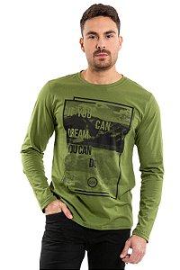 Camiseta masculina manga longa