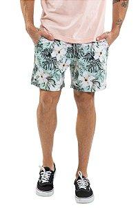 Bermuda masculina floral lírios