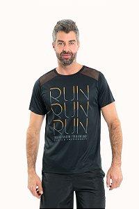 Camiseta fitness manga curta