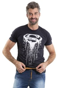Camiseta manga curta estampa frontal superman