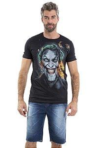 Camiseta manga curta estampa silk coringa