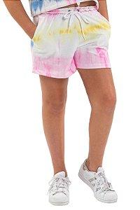 Shorts tie dye em moletinho