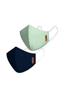 Kit 2 máscaras tripla proteção adulto