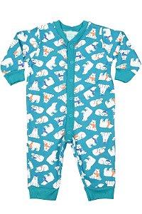 Pijama macacão moletom manga longa