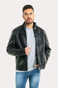 Jaqueta masculina com bolso e zíper