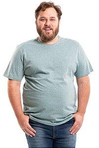 Camiseta manga curta mescla plus size
