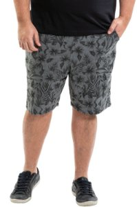 Bermuda moletom estampada plus size