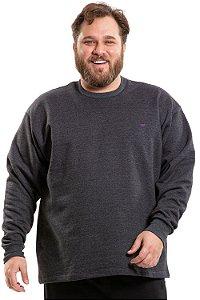 Blusão moletom liso plus size