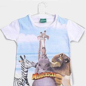 Camiseta manga curta infantil madagascar