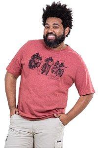 Camiseta manga curta caveira plus size