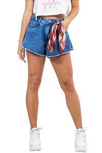 Shorts godê com lenço em jeans