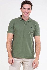 Camisa polo reta em piquet