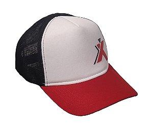 Boné Xtreme 2 - Branco, vermelho e preto