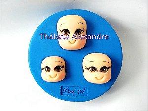 Molde de Silicone Trio de Cabeças P, M e G