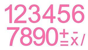 Cartela de Números c/ Recorte - ROSA