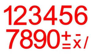 Cartela de Números c/ recorte - VERMELHO