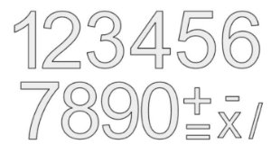 Cortador de Número c/ recorte - BRANCO