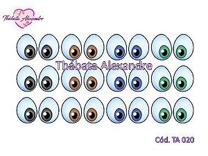 Adesivo de Olhos c/ Recorte - TA 020