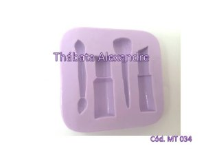 Molde de silicone kit Mini maquiagem