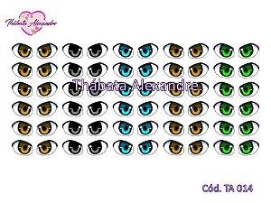 Olhos Adesivos c/ Recorte - TA 014