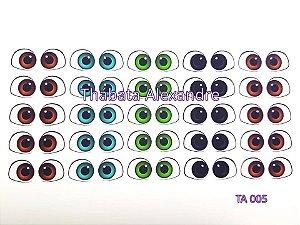 Adesivo de Olhos c/ Recorte Cód. TA 005
