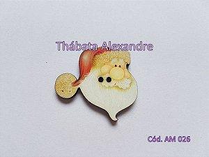 Cabeça do Papai Noel (Botão)