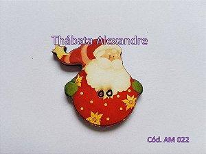 Papai Noel na Bola (Botão)