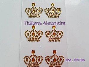 Cartela de Coroa Modelo 1 Dourada
