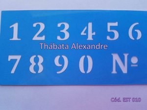 Estêncil Números 7X15
