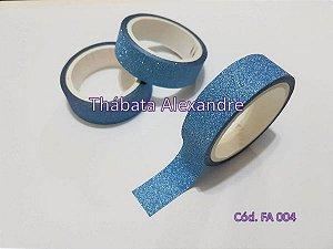 Fita Adesiva com Glitter - Azul