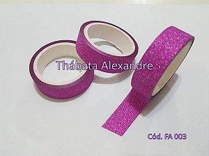 Fita Adesiva com Glitter - Pink