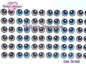 Adesivo de Olhos c/ Recorte Cód. TA 010