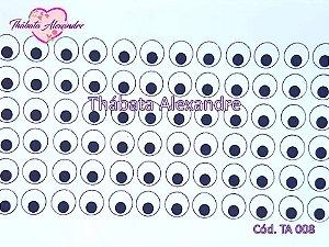 Adesivo de Olhos c/ Recorte Cód. TA 008