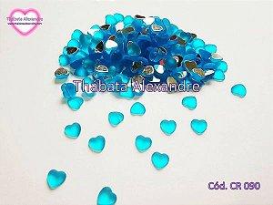 Chaton Coração Lua 8 MM Fosco - Azul