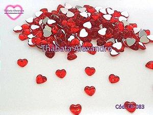 Chaton Coração Lua 8 MM - Vermelho