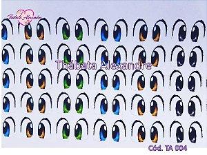 Adesivo de Olhos c/ Recorte Cód. TA 004