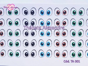 Adesivo de olhos c/ recorte  cód. TA 001