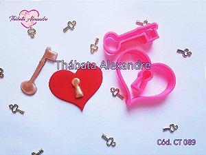 Cortador Coração com Chave