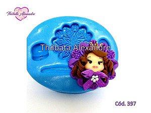 Molde de Silicone Chaveiro Princesa