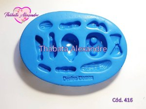 Molde de Silicone Kit Lol